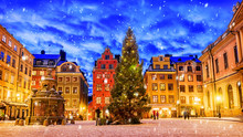 Stortorget Square Decorated To...
