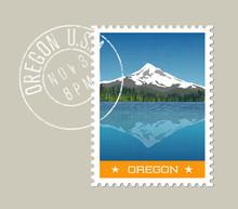 Oregon, Postage Stamp Design. ...
