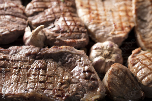 Aluminium Prints Candy Grilled meat.
