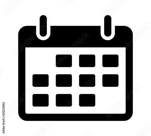 Calendar or appointment schedule flat icon icon for apps and websites Canvas Print
