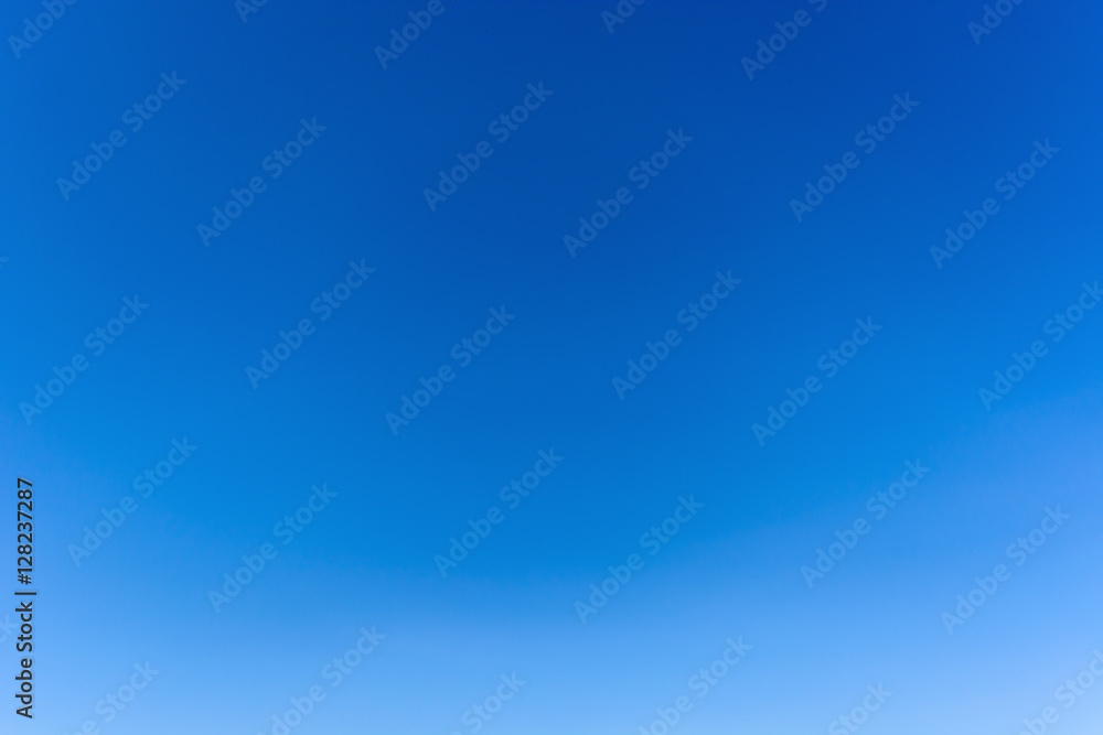 Fototapety, obrazy: Clear azure sky without clouds. Sky background.