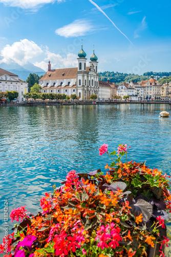 View at the Jesuit church of Luzern - Switzerland Canvas-taulu