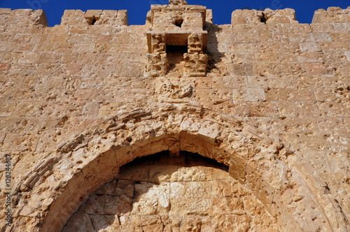 Fotografia  Jerusalem - Einschusslöcher des Sechstagekrieges am Zionstor