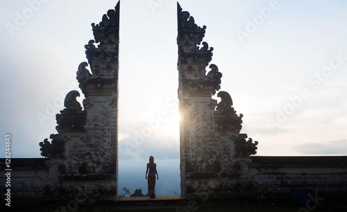 Ancient gates in pura Lempuyang ,Bali, Indonesia