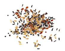 Mixed Bird Seed Isolated On Wh...