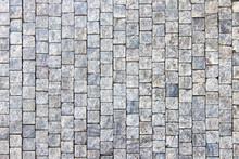 Granite Cobblestoned Pavement Background, Stone Textured Pattern