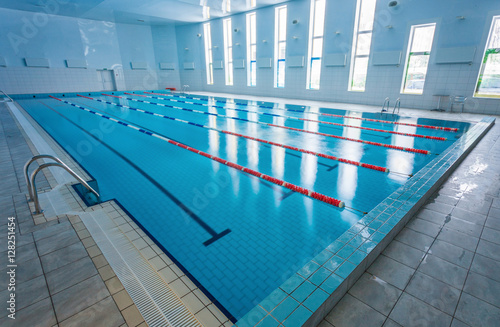 Swimming pool with race tracks