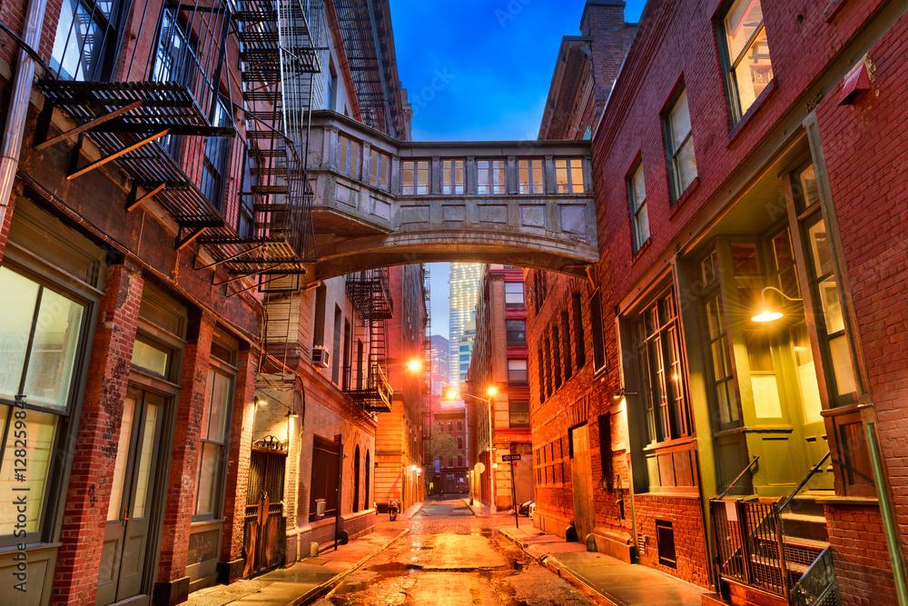 Fototapety, obrazy: Tribeca Alley in New York City.