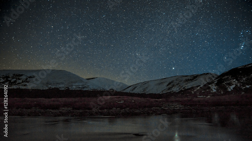 Slika na platnu Findhorn valley starscape