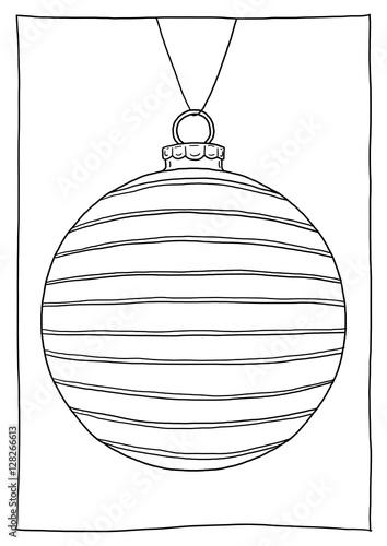 Ausmalbild Christbaumkugel Gestreift Kaufen Sie Diese Illustration