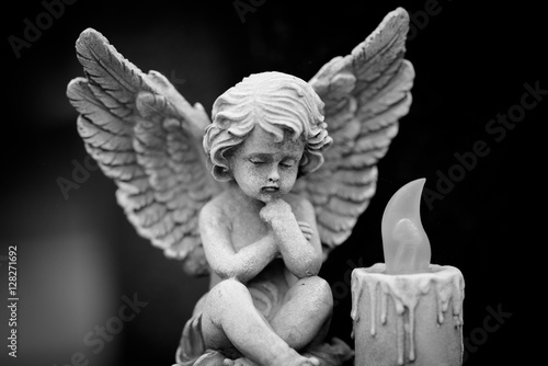 Fotografie, Obraz  angel and candle