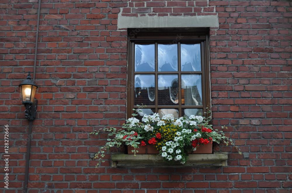 Photo & Art Print Ein Blumenkasten am Fenster /a flowers box at the ...