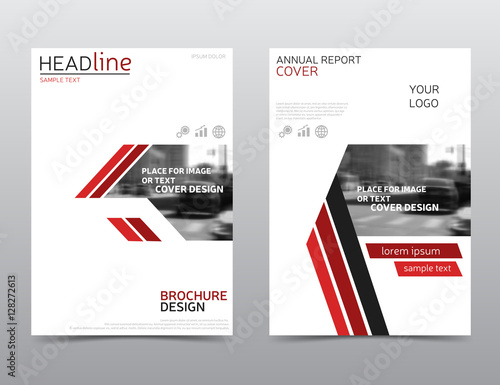 White And Red Brochure Design Technology Annual Report Cover