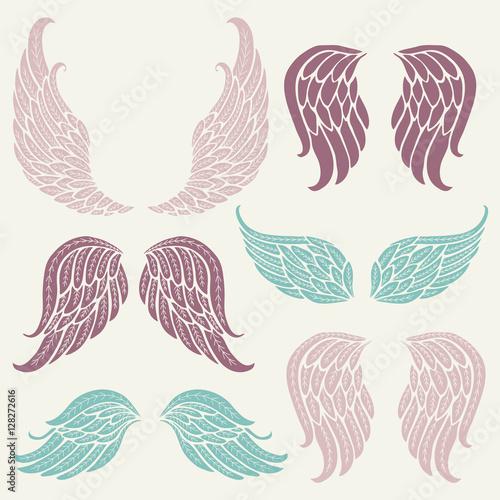 Fényképezés  Set of angel wings