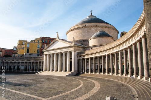 Foto auf Leinwand Neapel Piazza Plebiscito , Basilica di San Francesco di Paola, Naples, Italy