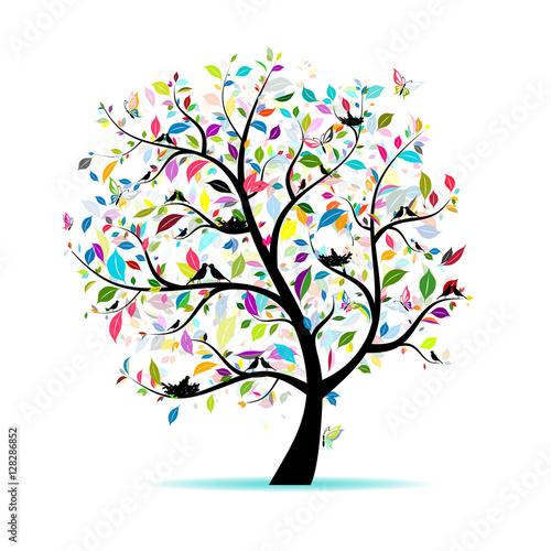 Drzewo wiosna dla swojego projektu