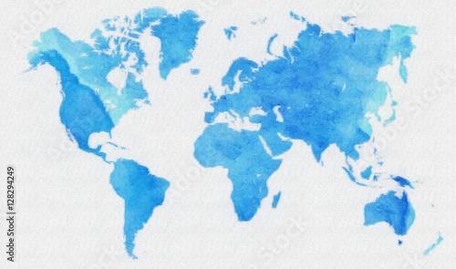 Recess Fitting World Map World map