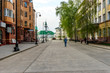 Pedestrian street in the Old Tatar settlement in Kazan, Russia