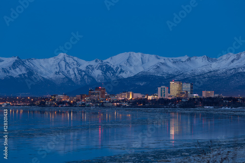 Downtown Anchorage Canvas Print