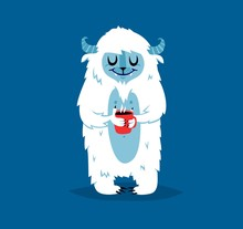 Cute Yeti Biigfoot Monster Vec...