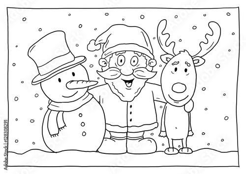 ausmalbild weihnachten stock illustration  adobe stock