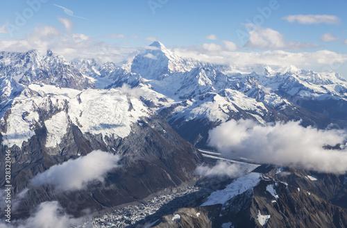 Photo Stands Landscapes Glacier Bay aerial