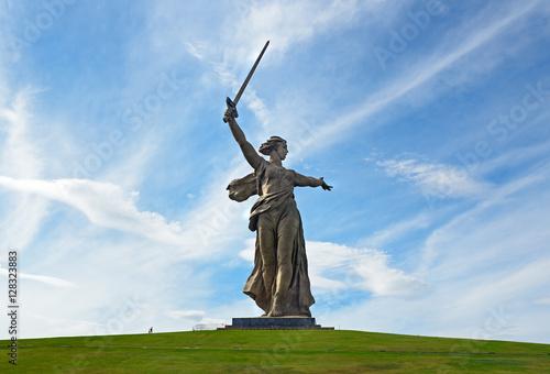 Zdjęcie XXL Ojczyzna Wywołuje pomnik. Kompleks pamięci Mamayev Kurgan w Wołgogradzie