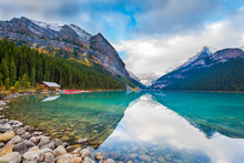 Lake Louise In The Canadian Ro...