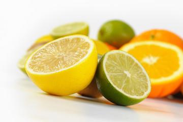 fototapeta świeże owoce cytrusowe