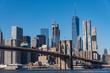 Brooklyn bridge and Skyscrapers in New York