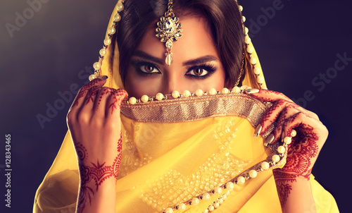 Beautiful indian girl Slika na platnu