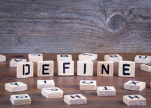 Define From Wooden Letters On ...
