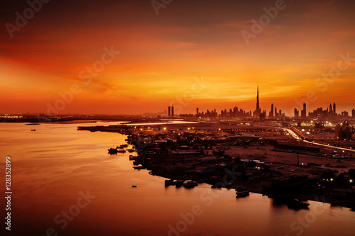 Photo  A beautiful skyline view of Dubai as viewed from Dubai Festival City during a go