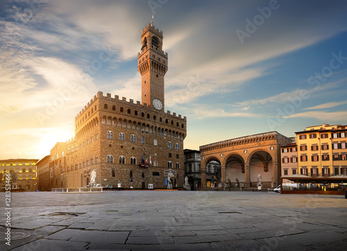 Square of Signoria Billede på lærred