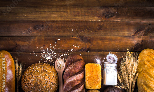 bakery products. Place for an inscription. Frame