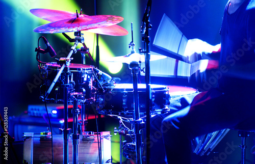 Canvas Print Rock drummer