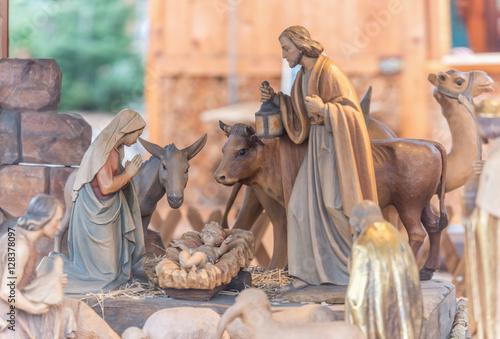 Fotografie, Obraz  Im Stall von Bethlehem - Weihnachtskrippe