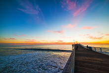Wooden Pier In Pacific Beach A...