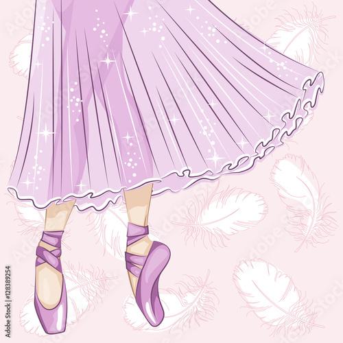 Fotografie, Obraz  Beautiful ballerina in classical tutu