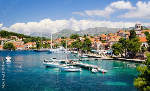 beautiful town Cavtat in southern Dalmatia, Croatia
