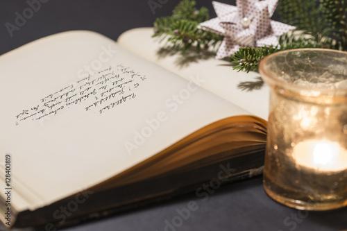 Stillleben Weihnachten Gedicht Kerze Buy This Stock