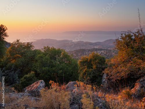 Sunset on Lesbos, Greece Canvas Print