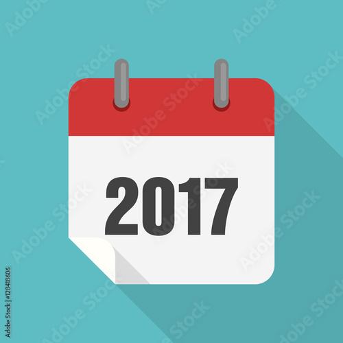 Calendar 2017 icon flat design Fotomurales