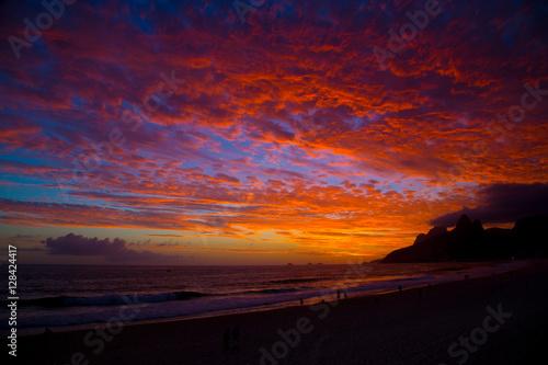 Ipanema Sunset Rio de Janeiro Poster