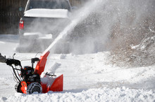 Snow Blower Blowing Snow Away ...