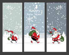 Christmas Banners Design With Santa Claus