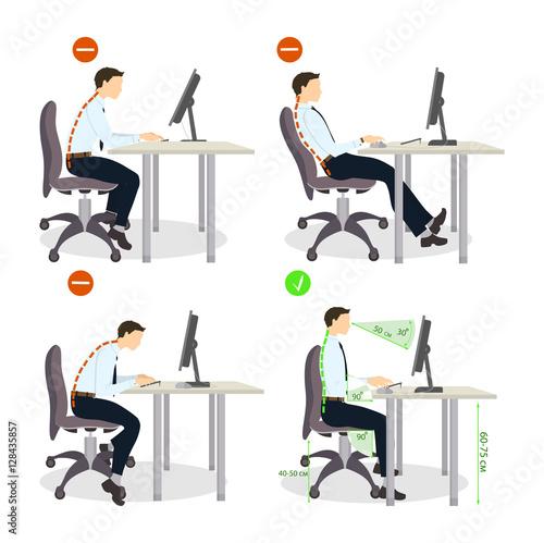 Fotografía  Sitting posture set