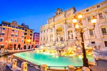 Rome, Italy - Fontana Di Trevi...