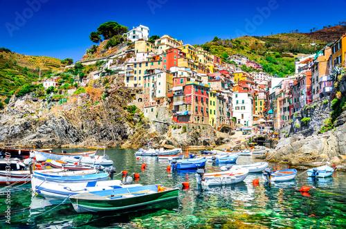 Fotobehang Liguria Riomaggiore, Cinque Terre, Italy