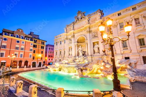 Obrazy na płótnie Canvas Rome, Italy - Fontana di Trevi, night image